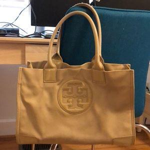 Tory Burch tan tote purse